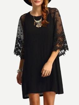 robe bi-matière sheinsider