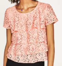 top rose zara