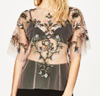top transparent zara